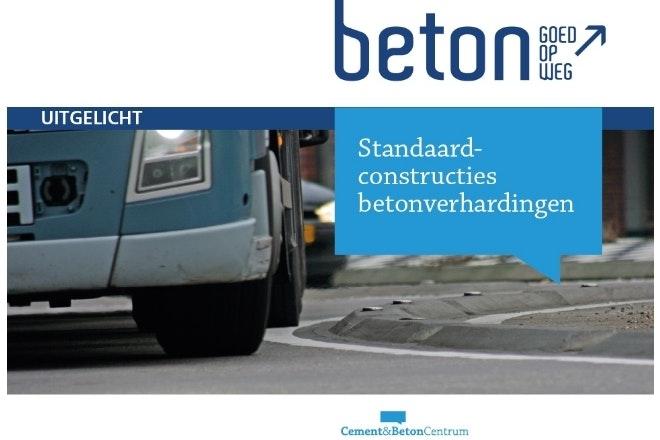 Omslag brochure standaardconstructies betonverharding